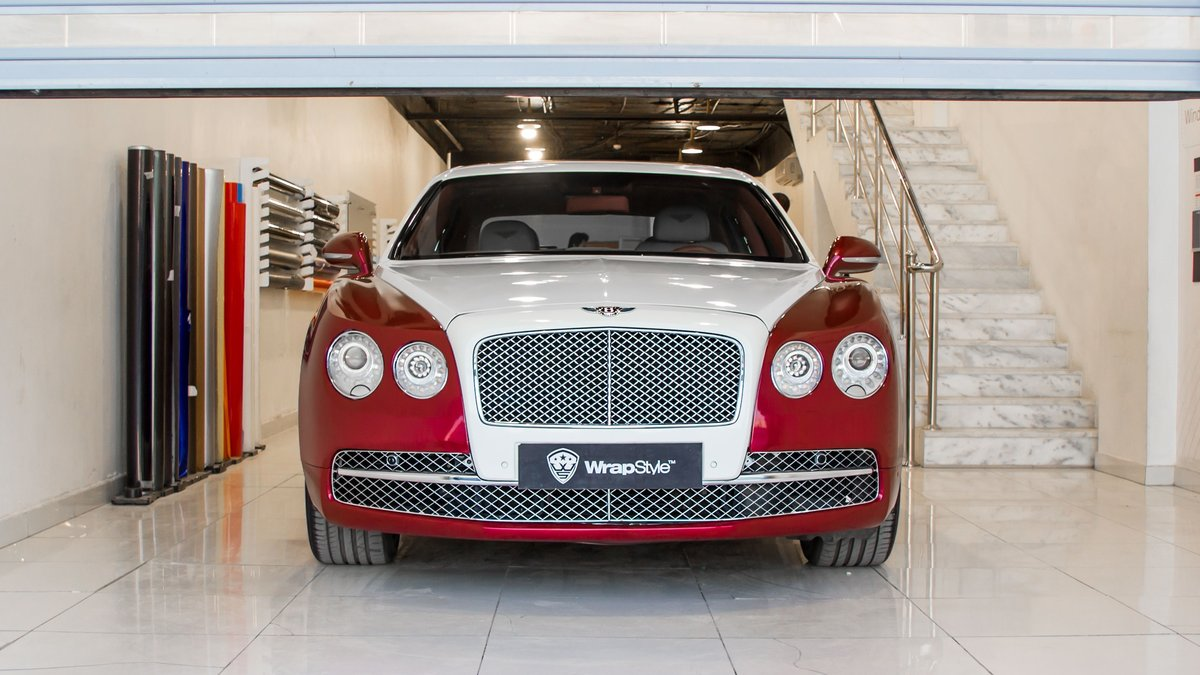 Bentley Continental - Red Pearl wrap - cover