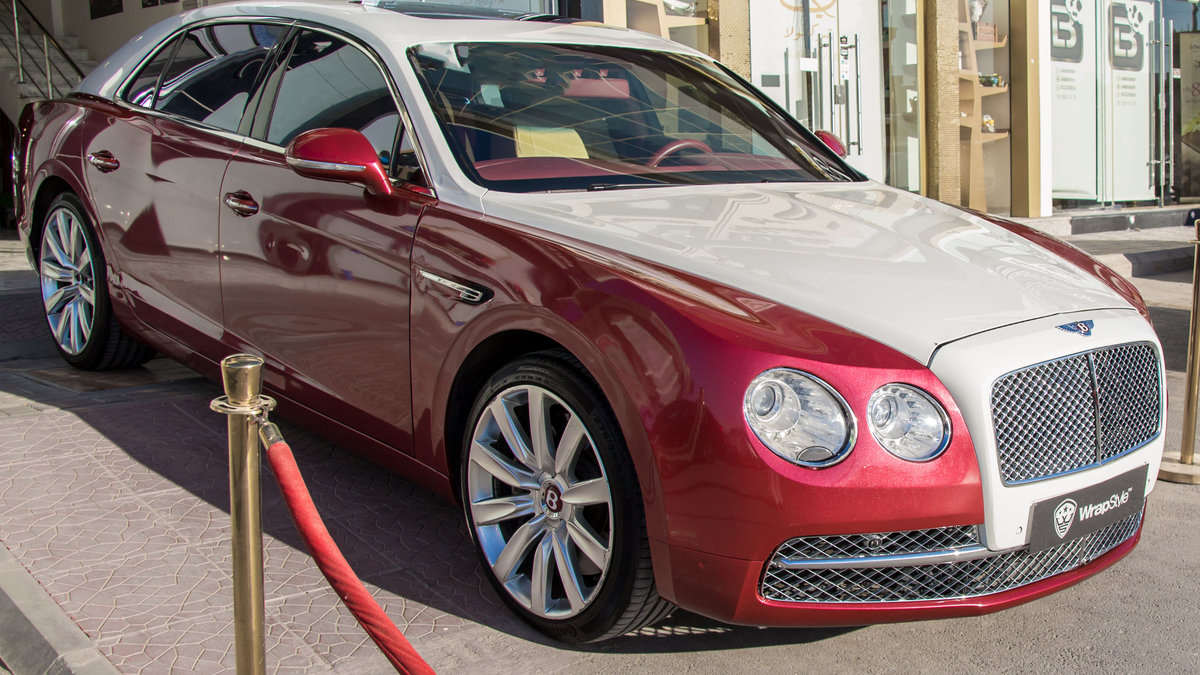 Bentley Continental - Red Pearl wrap - img 1