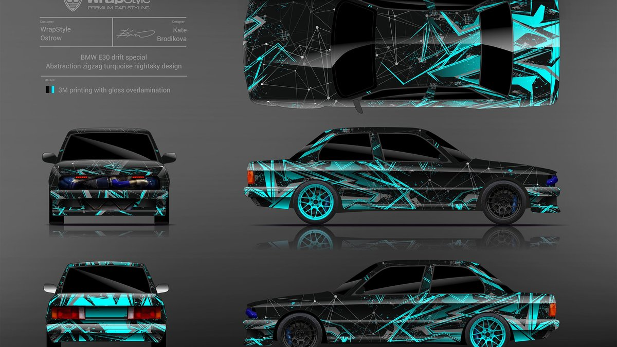 BMW E30 - Abstract Zigzag design - cover