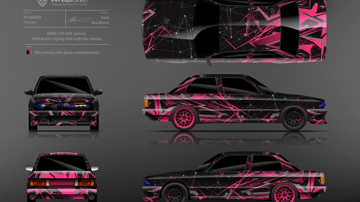 BMW E30 - Abstract Zigzag design - img 1