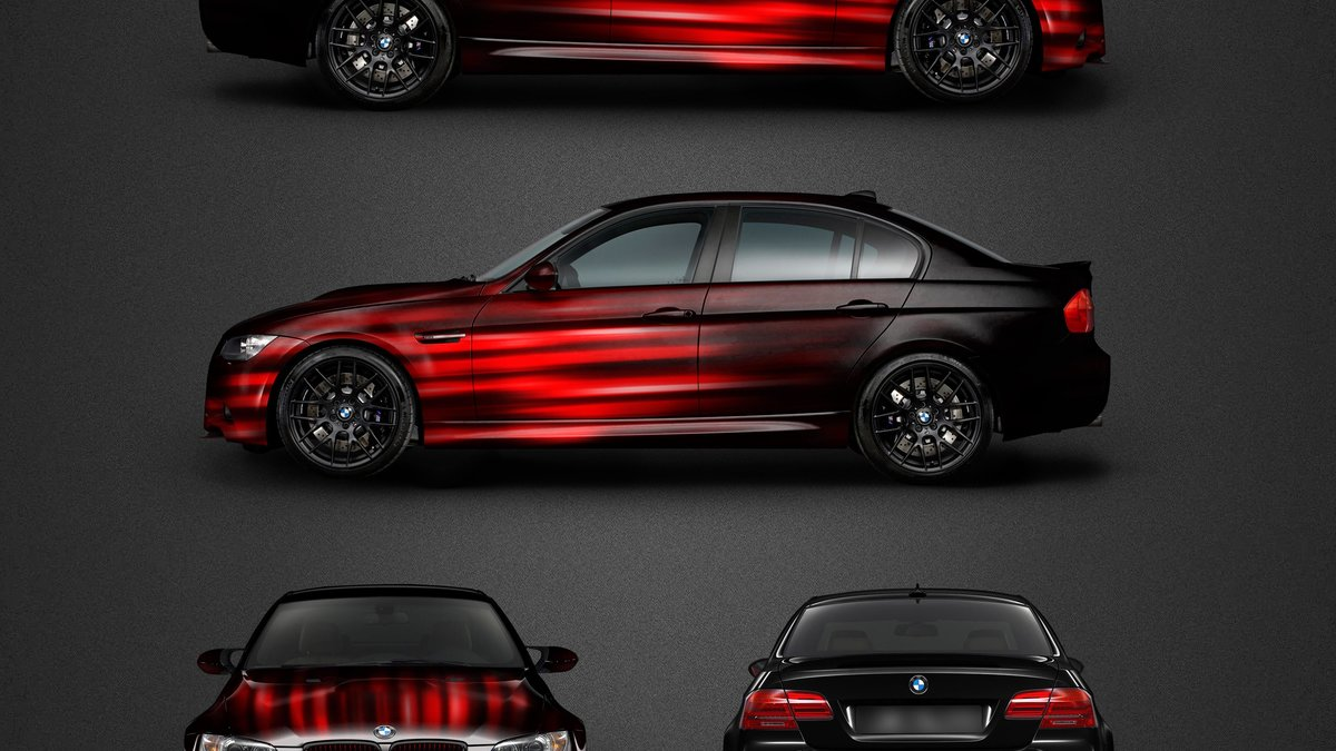BMW M3 - Red Fade design - cover