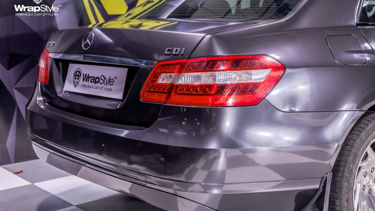 Mercedes E250 - Grey Metallic wrap - img 1