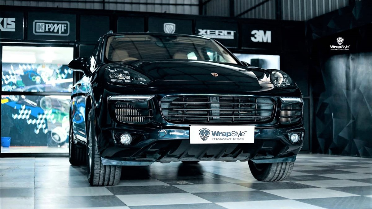 Porsche Cayenne S - Midnight Blue wrap - cover