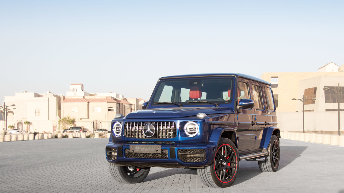 Mercedes G - Blue Gloss wrap - cover