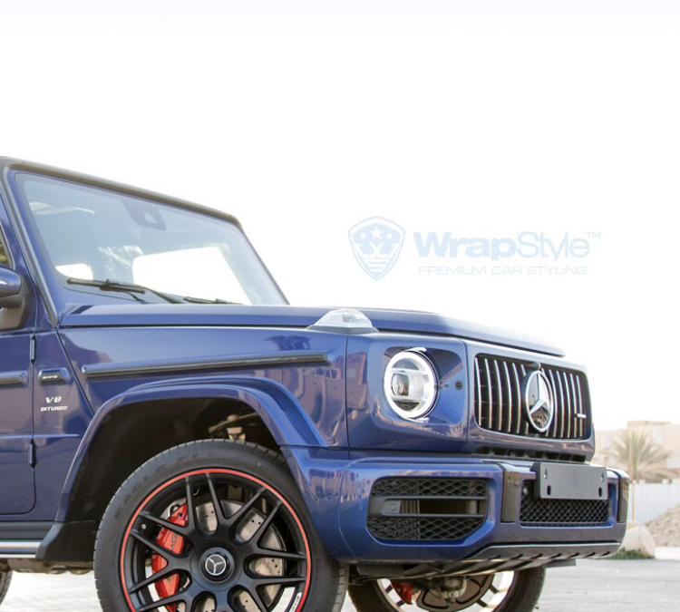 Mercedes G - Blue Gloss wrap - img 1
