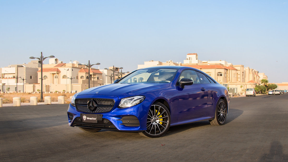 Mercedes S Coupe - Blue Gloss wrap - cover