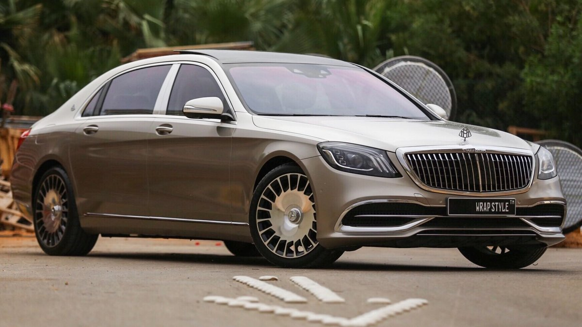 Mercedes Maybach - Beige Gloss wrap - cover