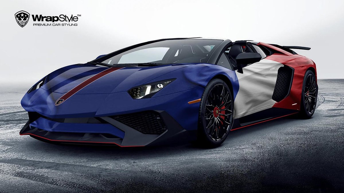 Lamborghini Aventador - French Flag design - cover