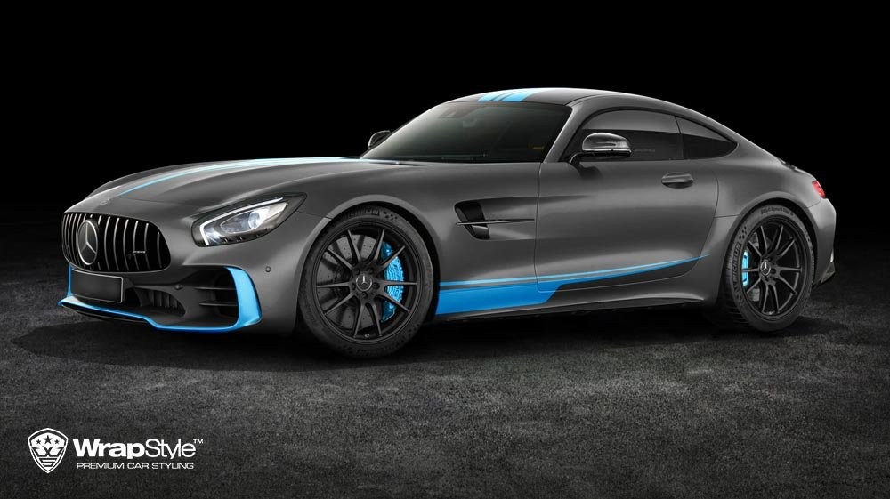 Mercedes AMG GTR - Blue Details design - cover