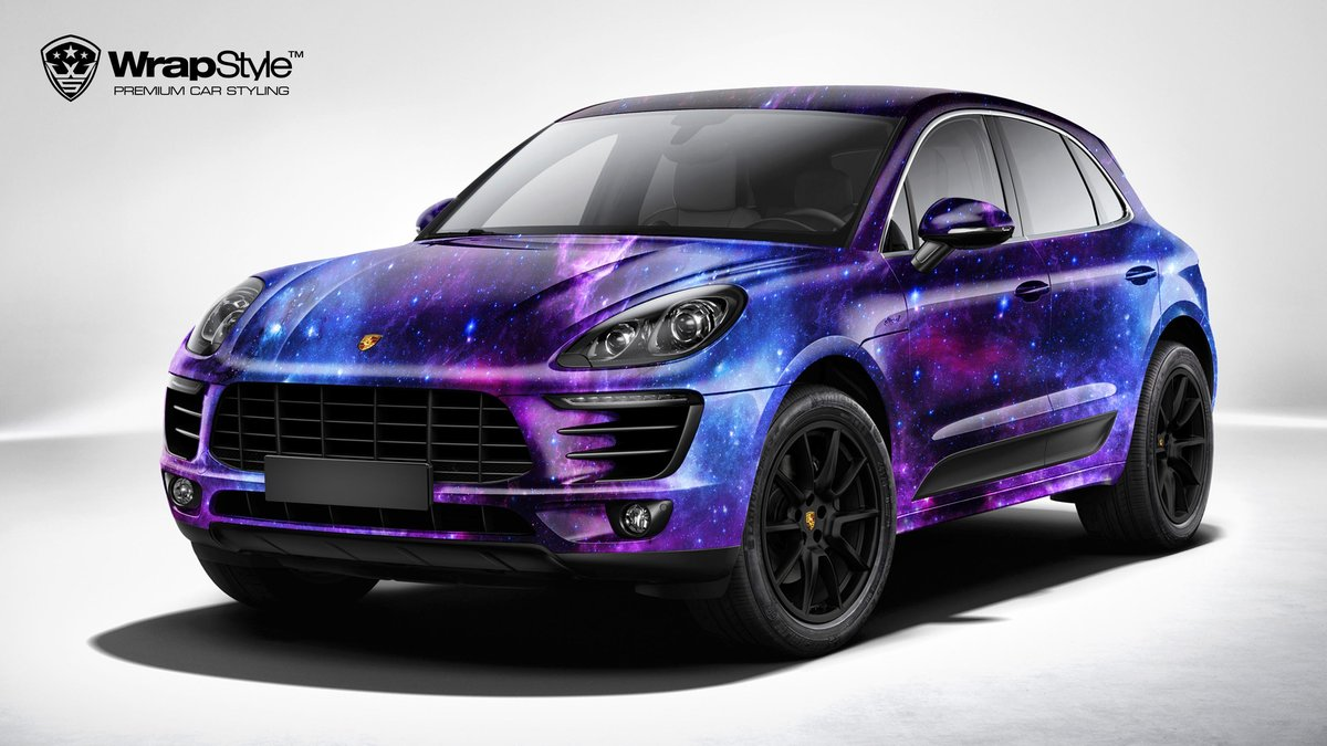 Porsche Macan - Galaxy design - cover