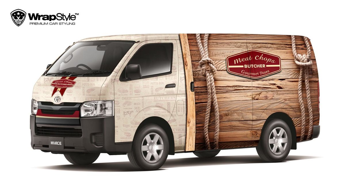 Toyota Hiace - Meat Butcher design - cover