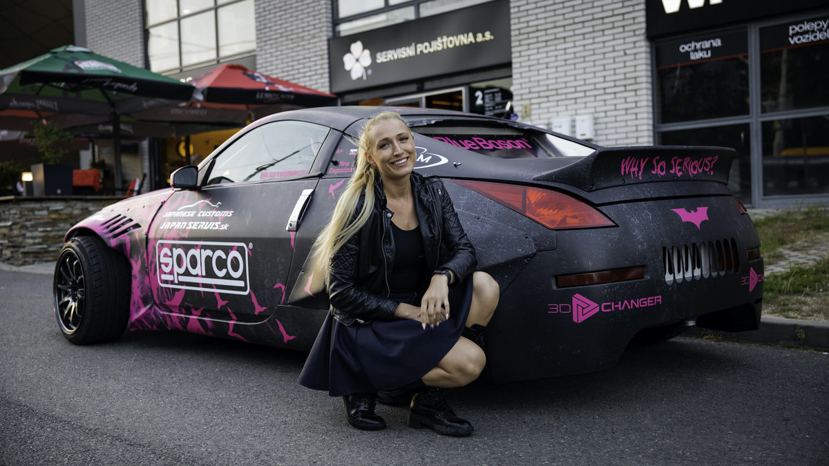 Toyota Supra and Nissan 350z - Lady Hoonigan WrapStock Bat Girl Design - img 1