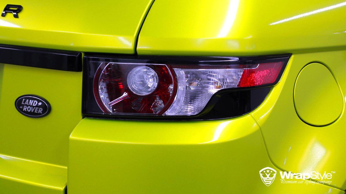 Range Rover Evoque - Lime Green wrap - img 2