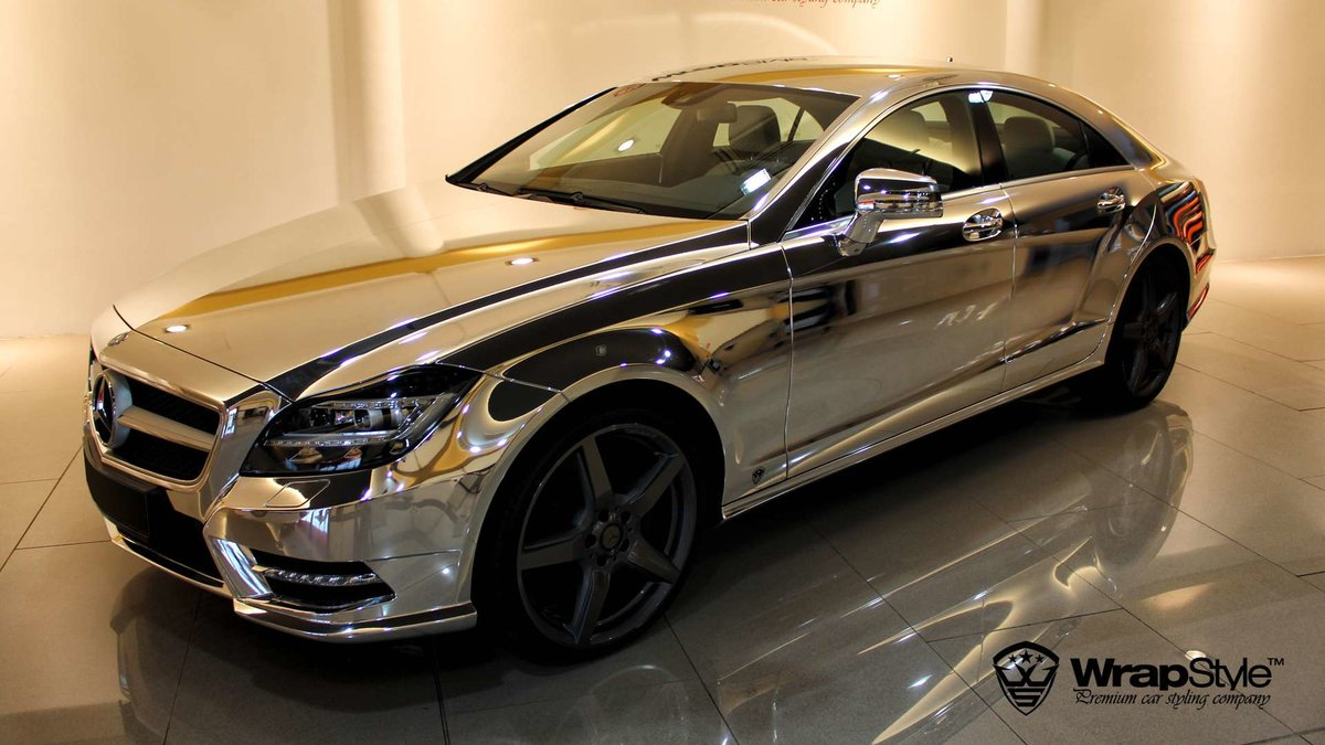 Mercedes CLS - Silver Chrome wrap - img 2