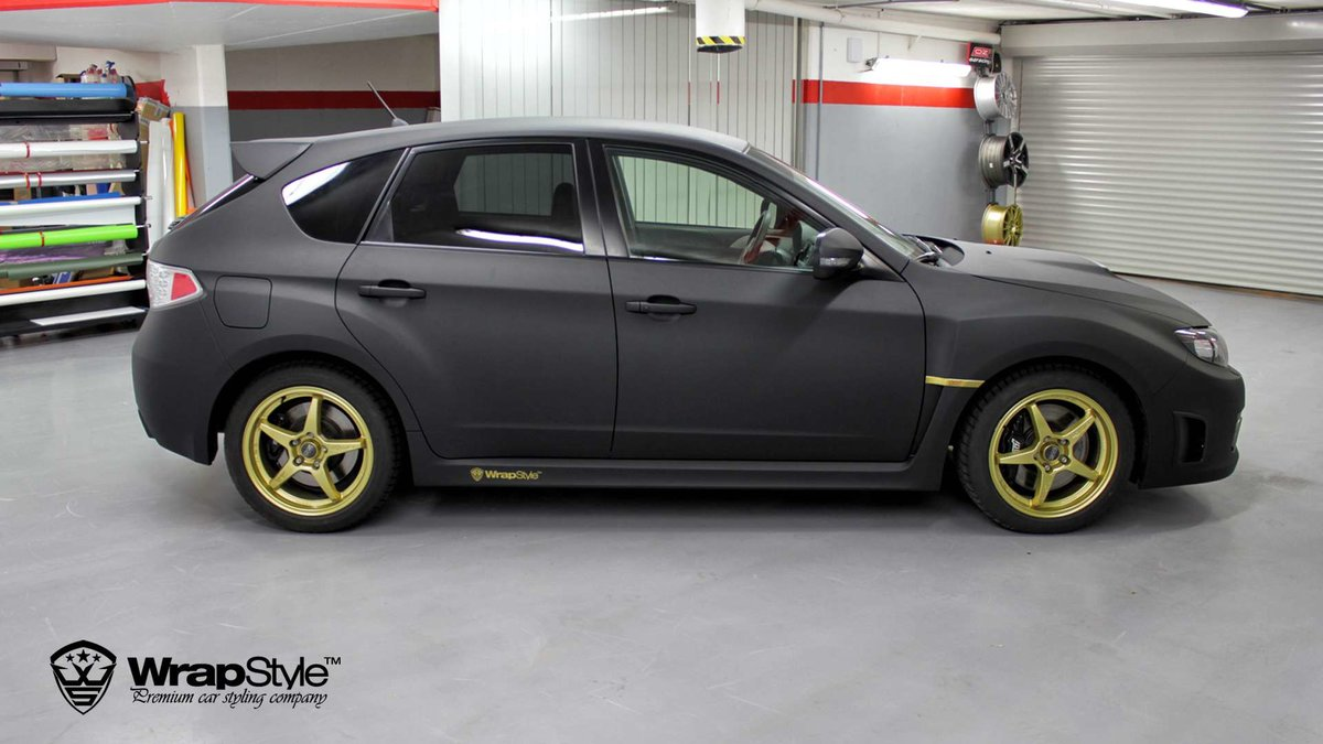 Subaru STI - Black Matt wrap - img 3