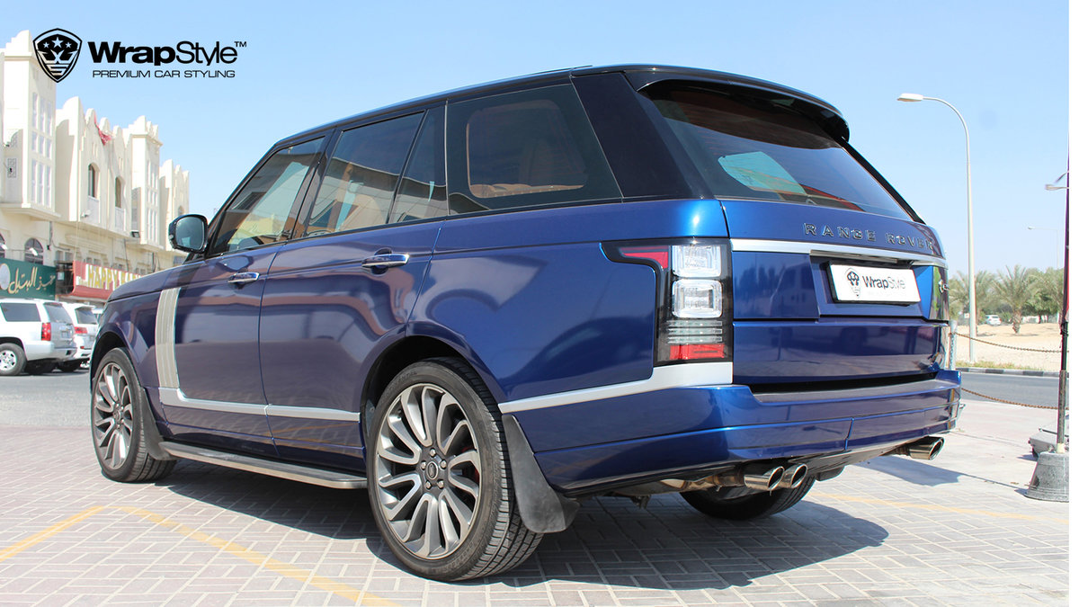 Range Rover Autobiography - Dark Blue Gloss wrap - img 2