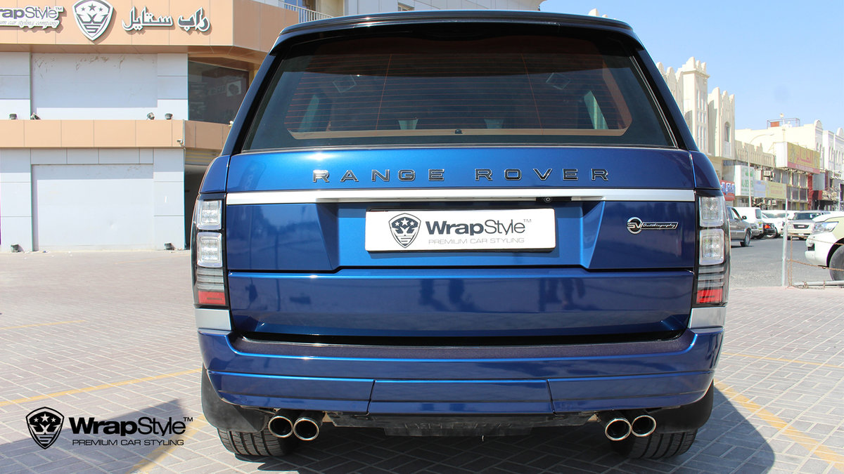 Range Rover Autobiography - Dark Blue Gloss wrap - img 1