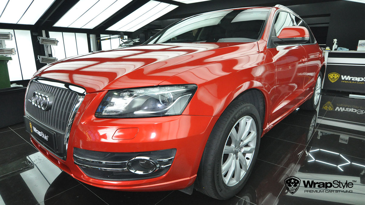 Audi Q5 - Dragon Fire Red Gloss wrap - img 1