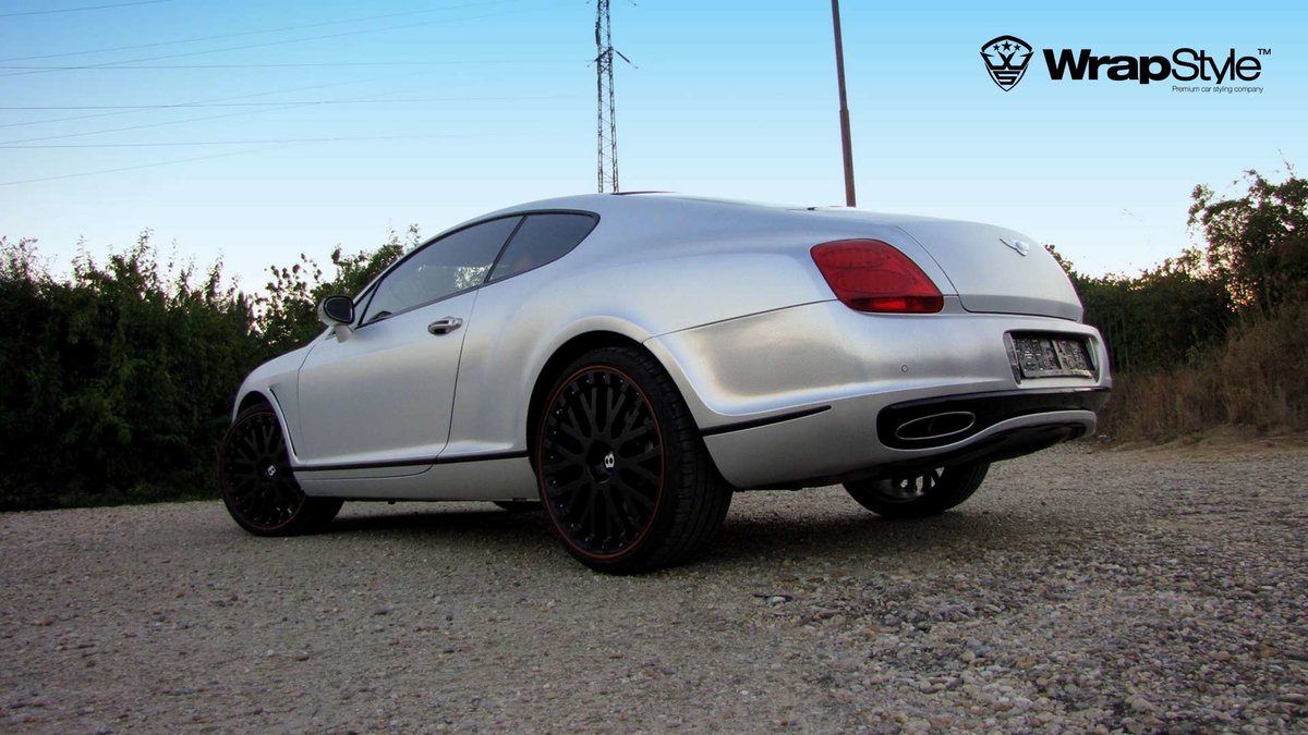 Bentley Continental - Silver Chrome Carbon wrap - img 2