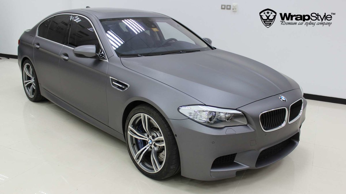 BMW M5 - Grey Matt wrap - img 3