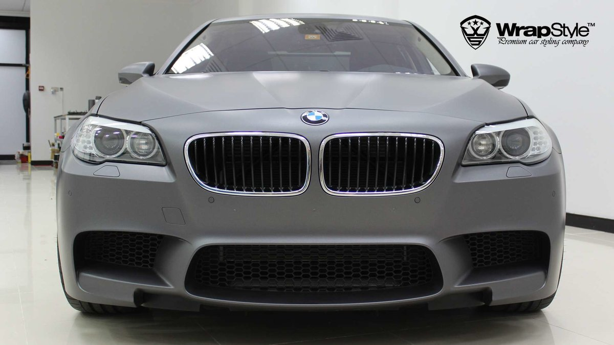 BMW M5 - Grey Matt wrap - img 2