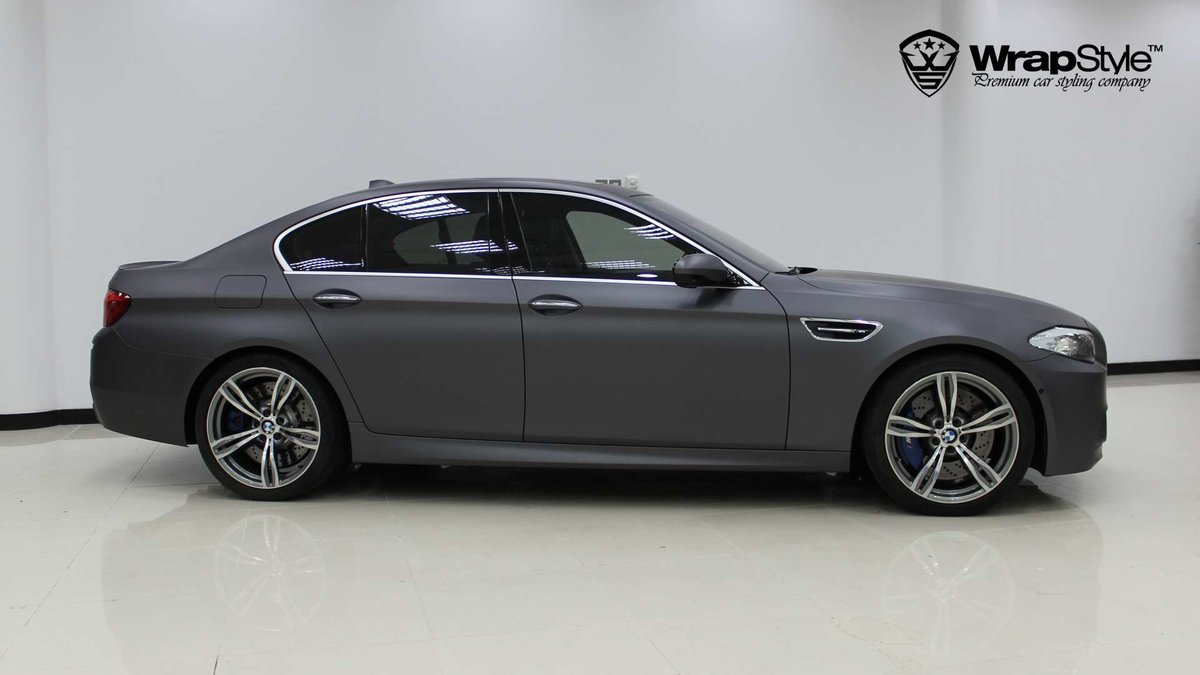 BMW M5 - Grey Matt wrap - img 1