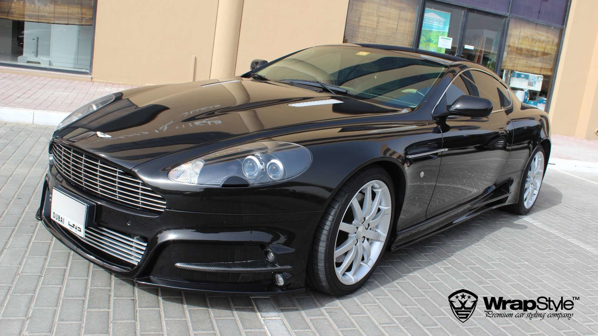 Aston Martin Dbs Black Metallic Wrap Wrapstyle
