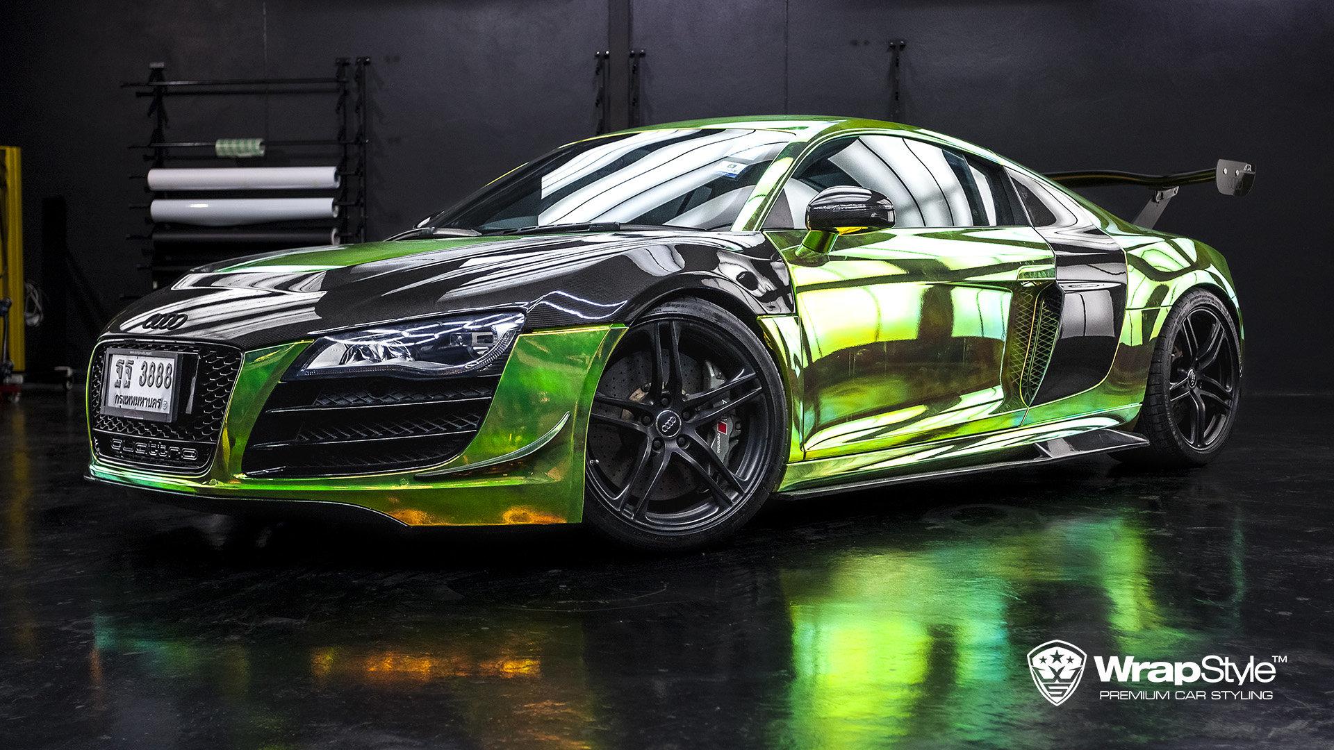 Audi R8 Rainbow Chrome Wrap Wrapstyle