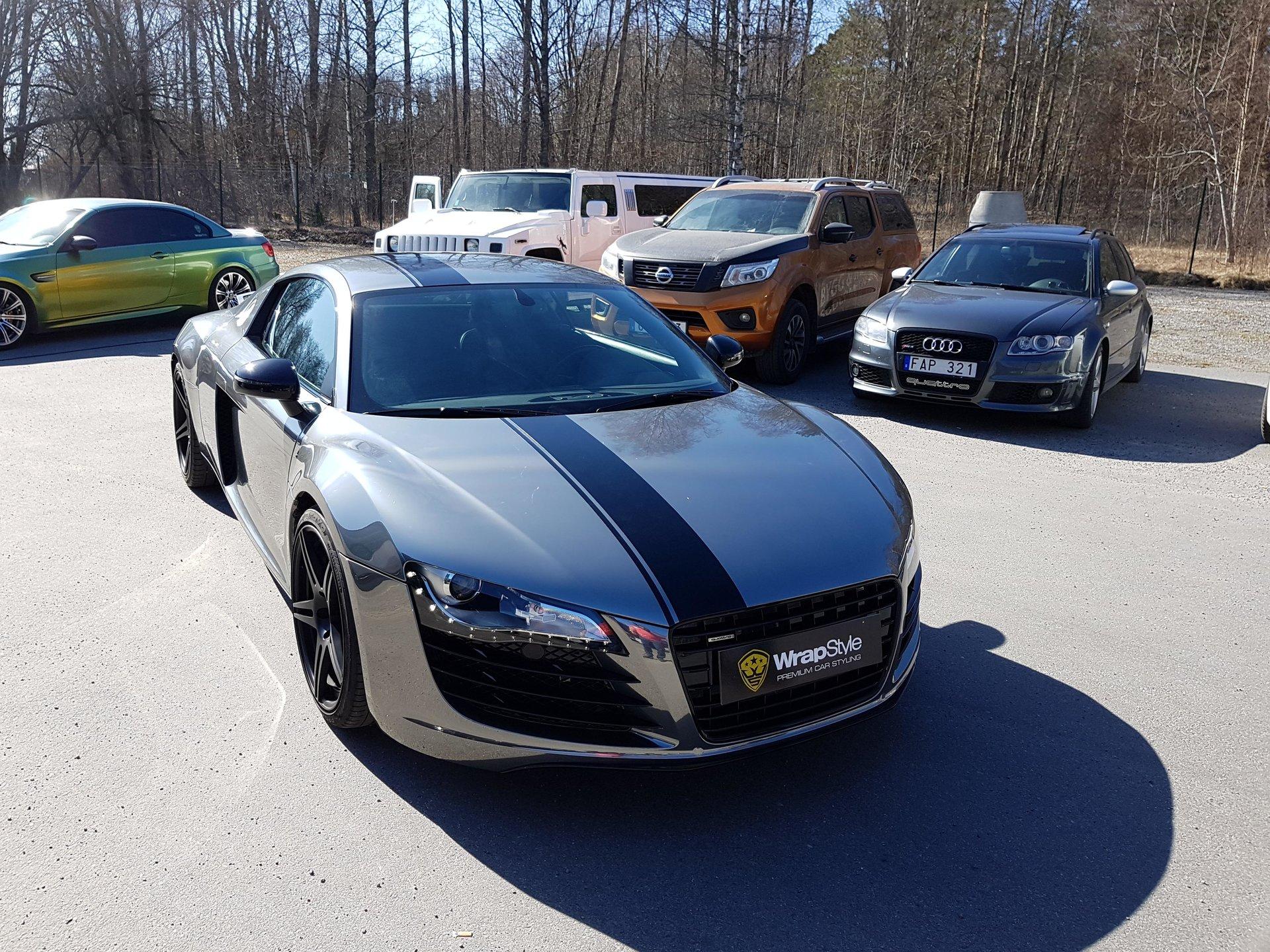 Audi R8 Black Chrome Wrap Wrapstyle