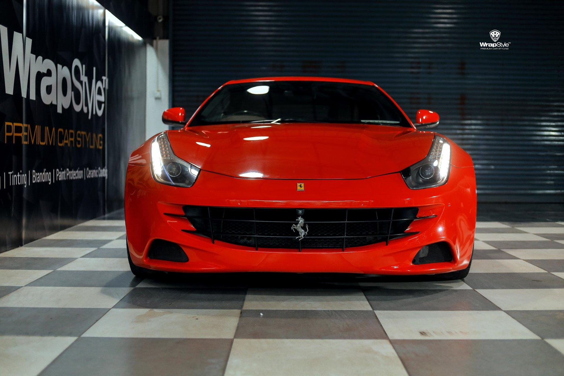 Ferrari Gtc4 Lusso V12 Red Gloss Wrap Wrapstyle