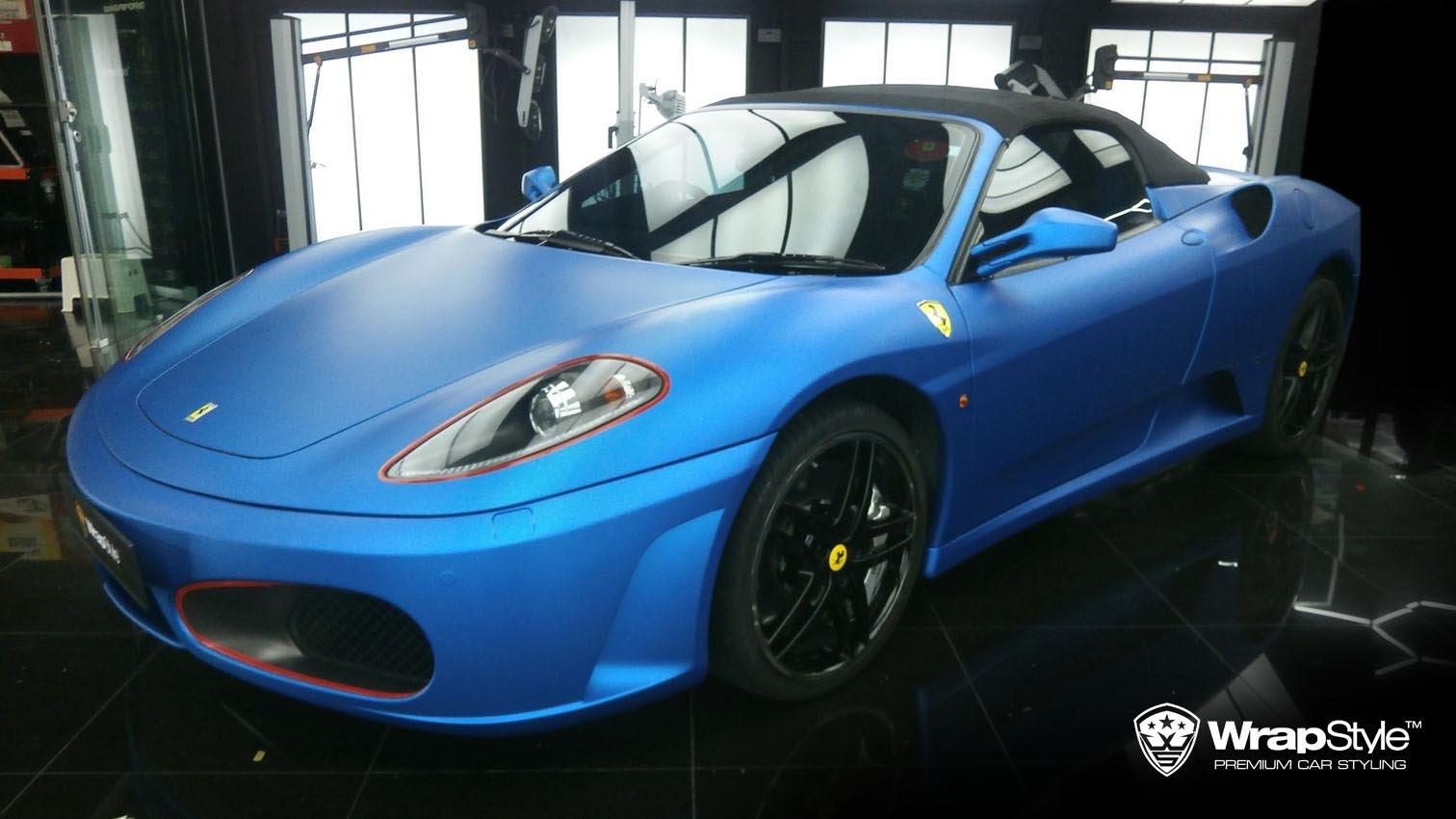 Ferrari F430 Blue Matt Metalic Wrap Wrapstyle