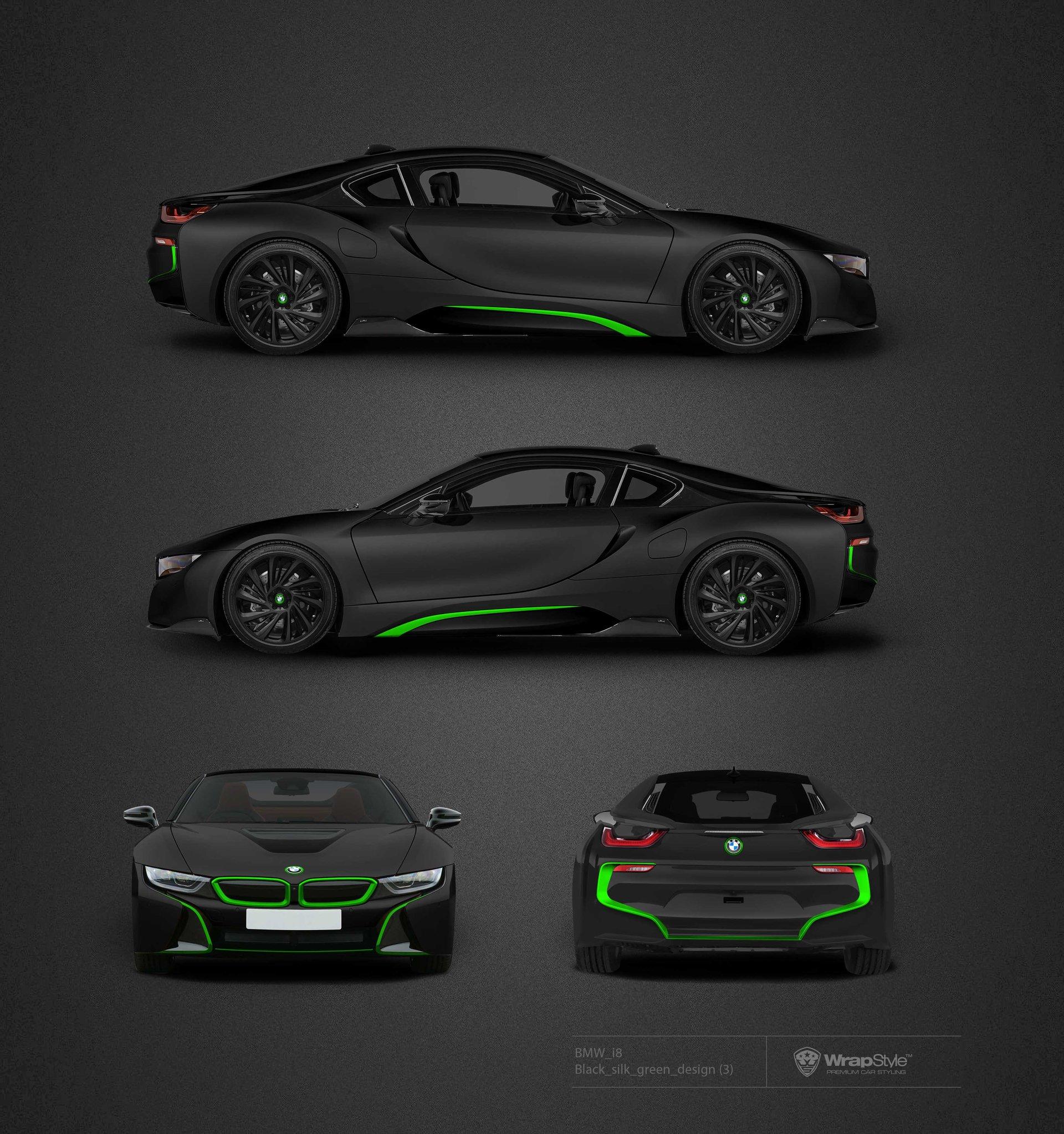 Bmw I8 Black Silk Design Wrapstyle