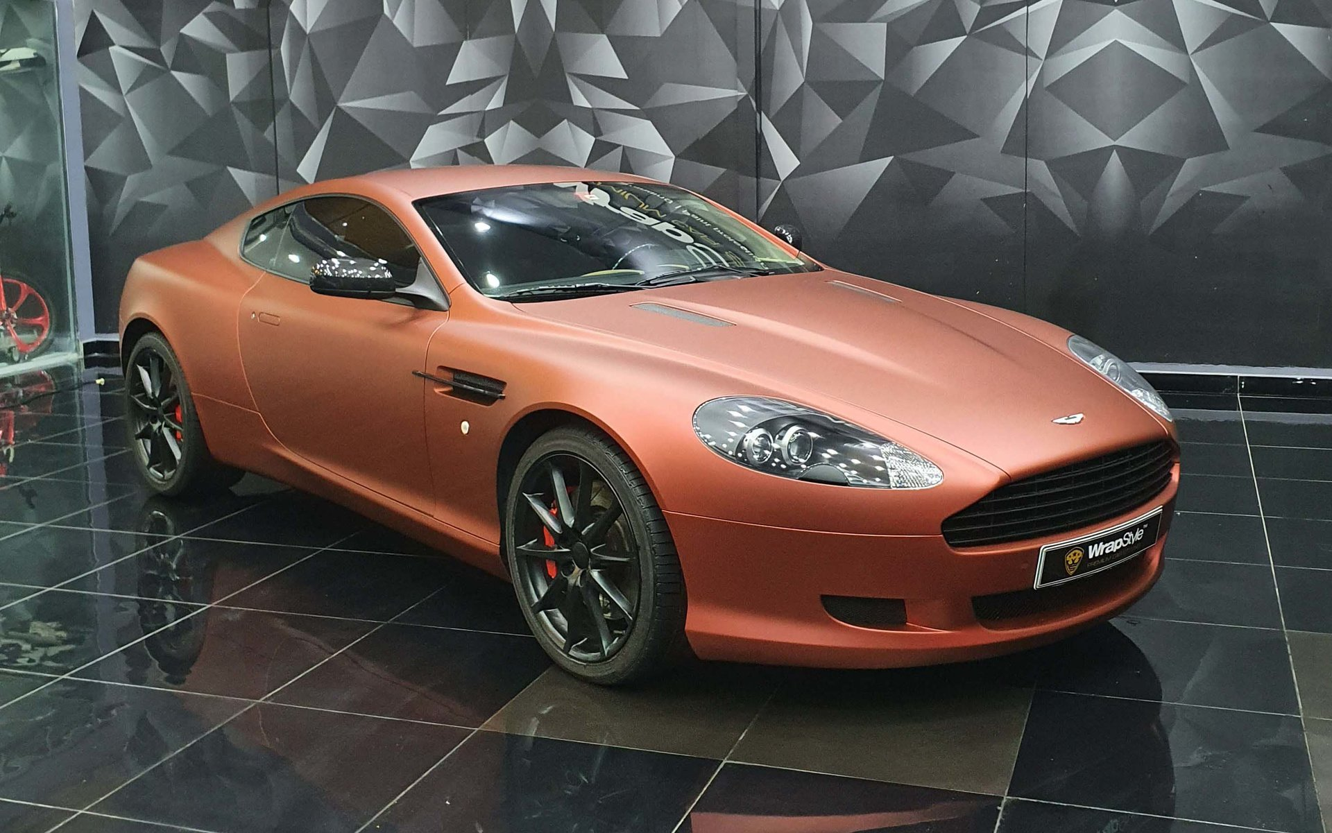 Aston Martin Db9 Red Aluminium Wrap Wrapstyle
