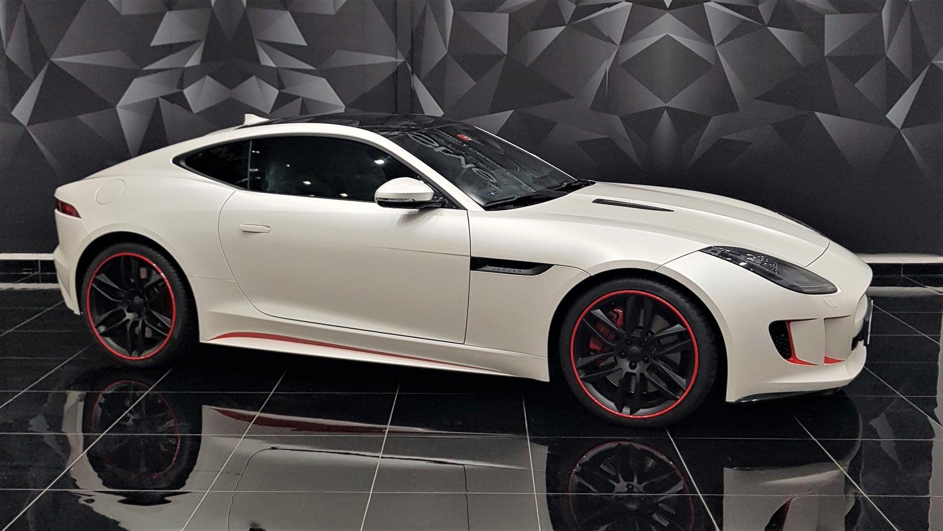 Jaguar F Type Coupe White Matt Wrap Wrapstyle