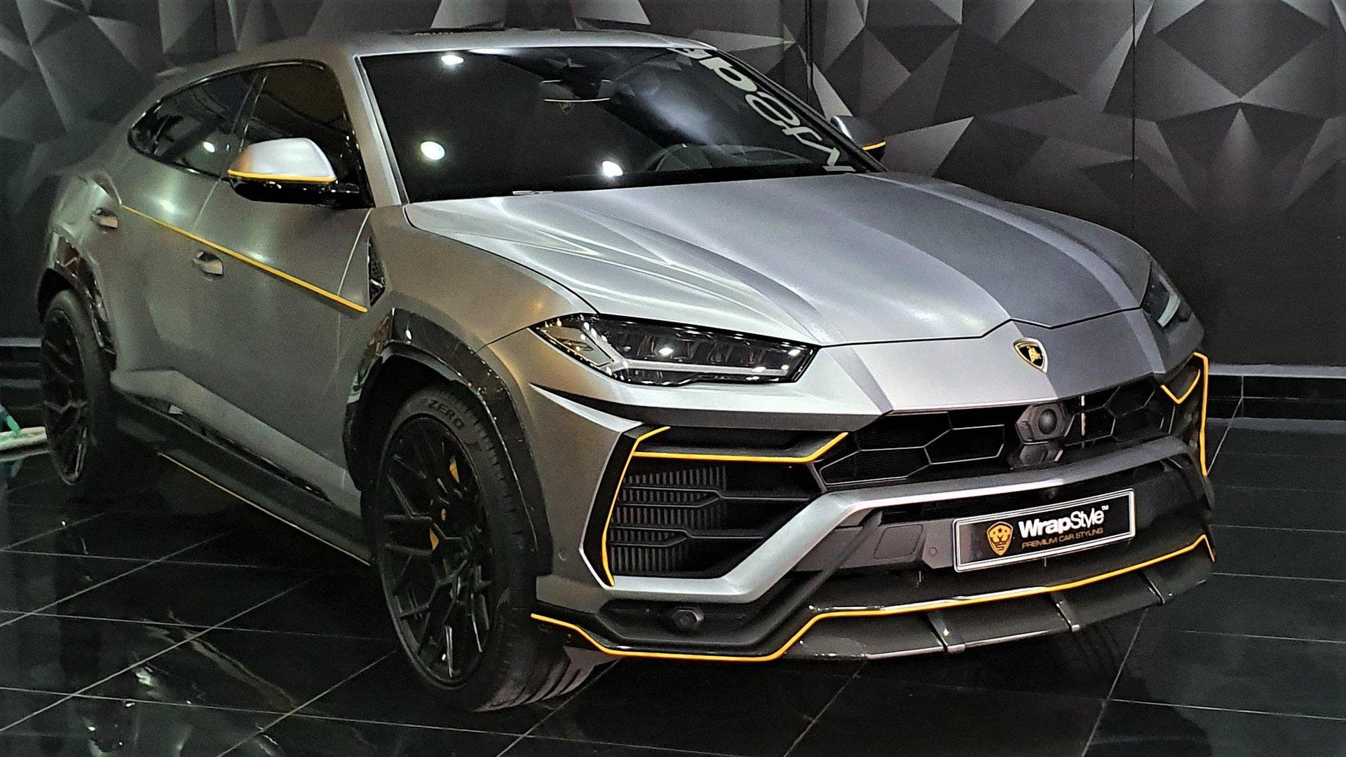 Lamborghini Urus Yellow Detailing Wrap Wrapstyle
