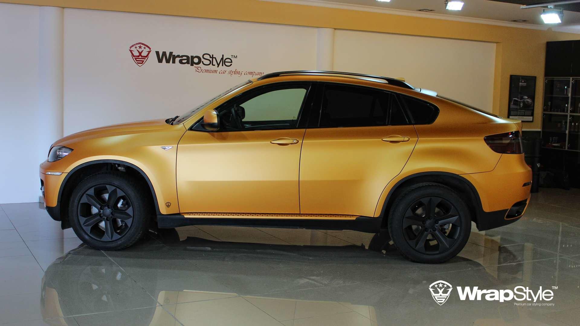 Bmw X6 Gold Satin Wrap Wrapstyle