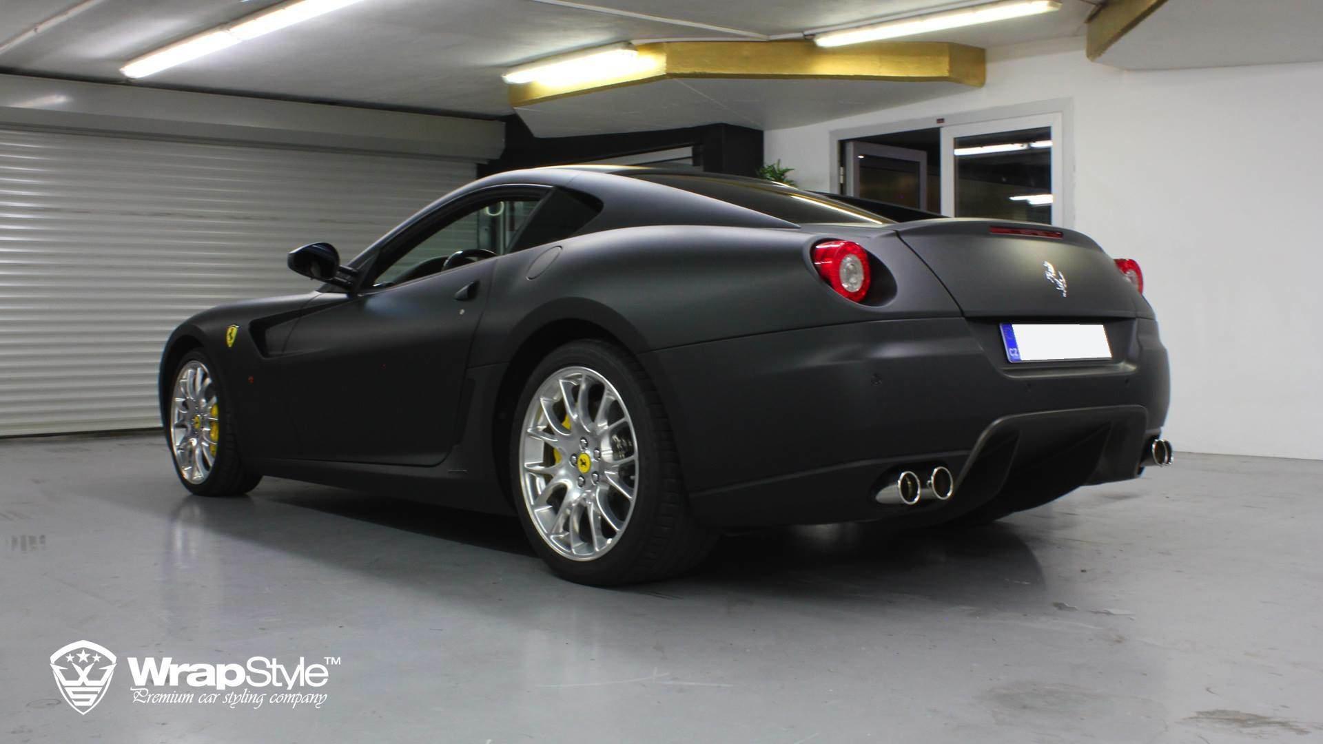 Ferrari 599 Black Matt Wrap Wrapstyle
