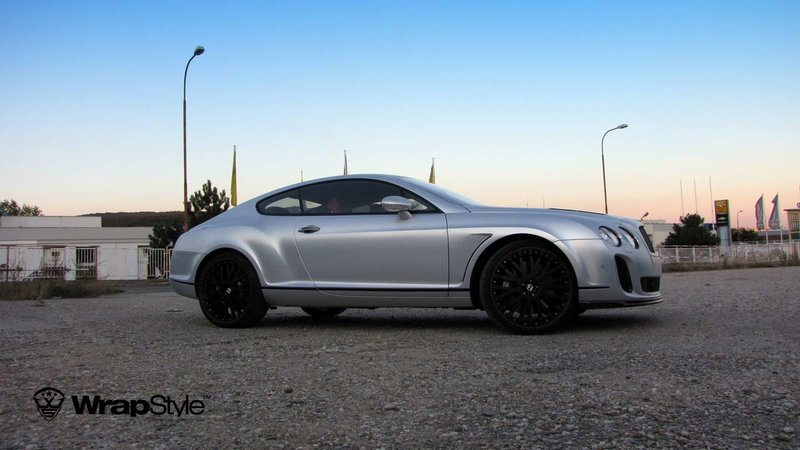 Bentley Continental - Silver Chrome Carbon wrap - cover small