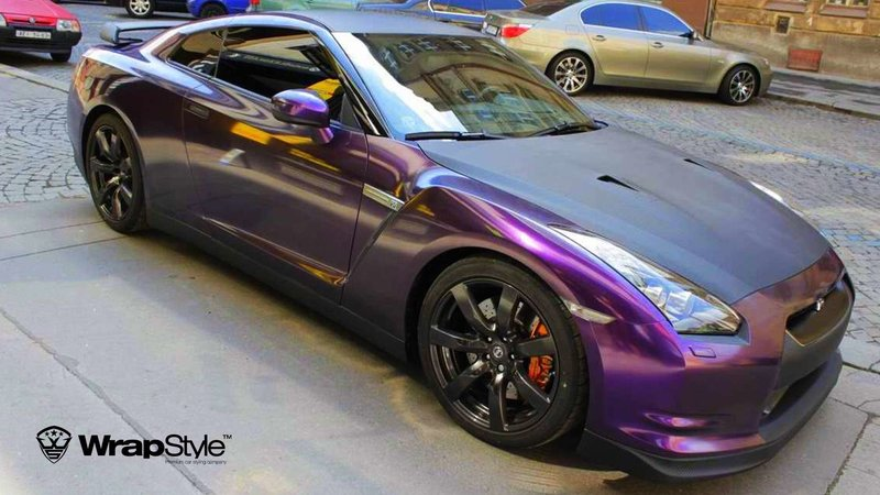 Nissan GTR - Black Violet wrap - cover small