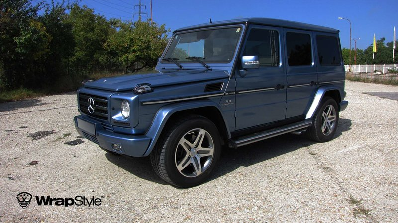Mercedes G - Blue Metallic wrap - cover small