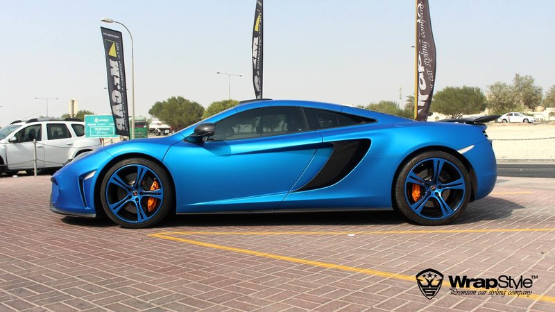 McLaren  - Blue Aluminium Matt wrap - cover small