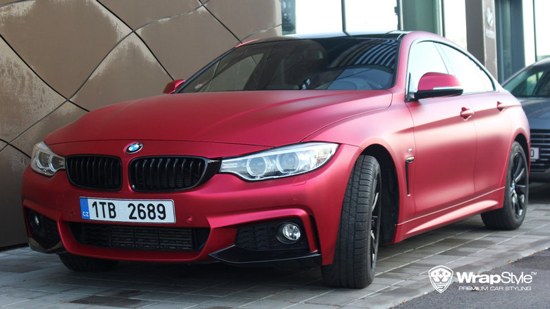 BMW 4 Grandcoupe - Red cherry chrome - cover small