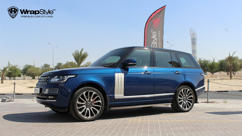 Range Rover Autobiography - Dark Blue Gloss wrap - cover small