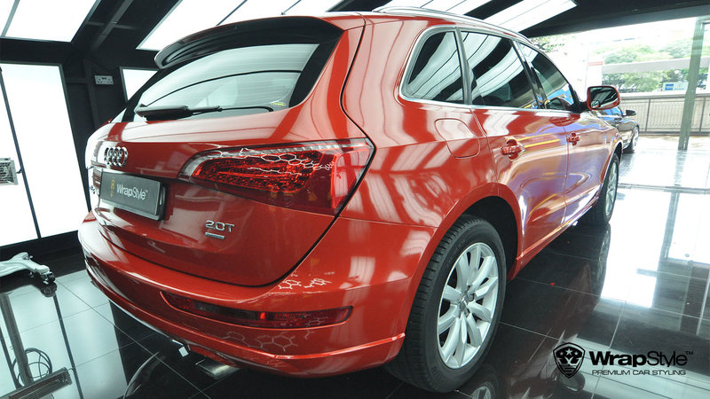 Audi Q5 - Dragon Fire Red Gloss wrap - cover small