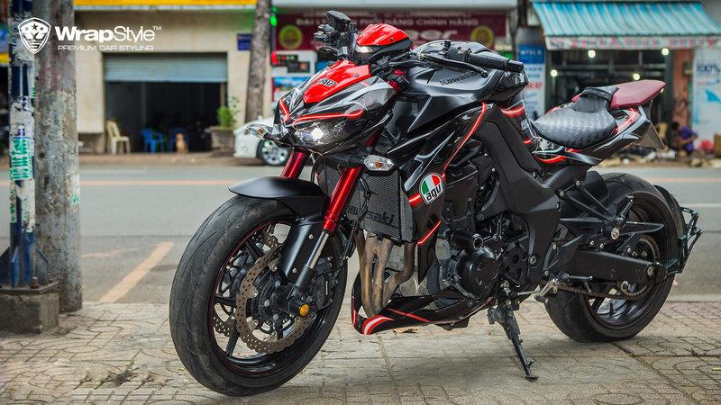 Kawasaki Z1000 - Red Detailing design