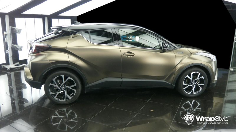 Toyota C-HR - Pearl Metal Coffee wrap - cover small