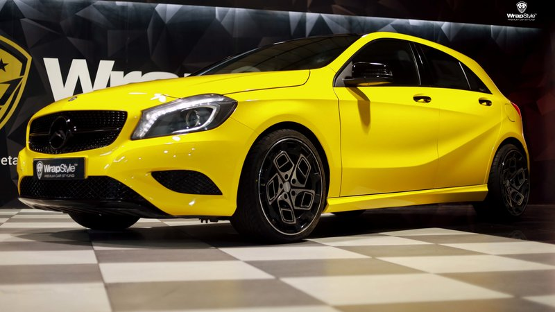 Mercedes A180 - Yellow wrap - cover small