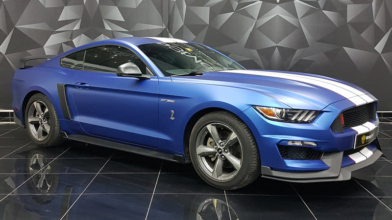 Ford Mustang - Blue Matt  wrap - cover small
