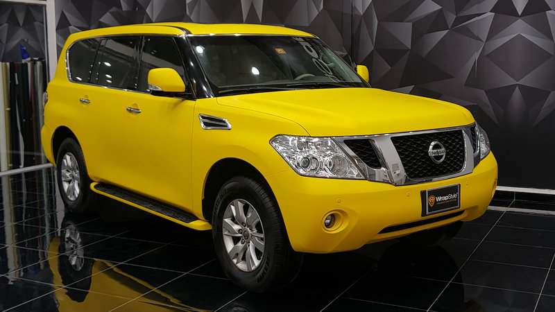 Nissan V8 - Yellow Gloss wrap - cover small