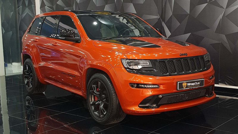 Jeep Cherokee - Orange Gloss wrap - cover small